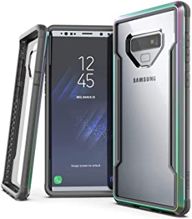 X-Doria Defense Shield Case for Samsung Galaxy Note 9 Military Grade Drop Tested, Impact Resistant, Anodized Aluminum Durable Case for Galaxy Note 9, (Iridescent)