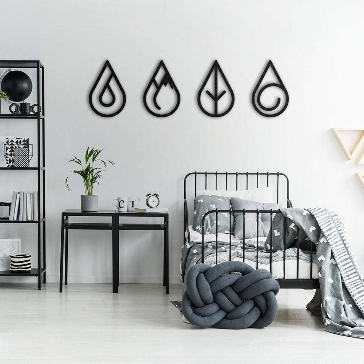 Free Brand Four Elements Department store Max 54% OFF Metal De Decor Singa Wall