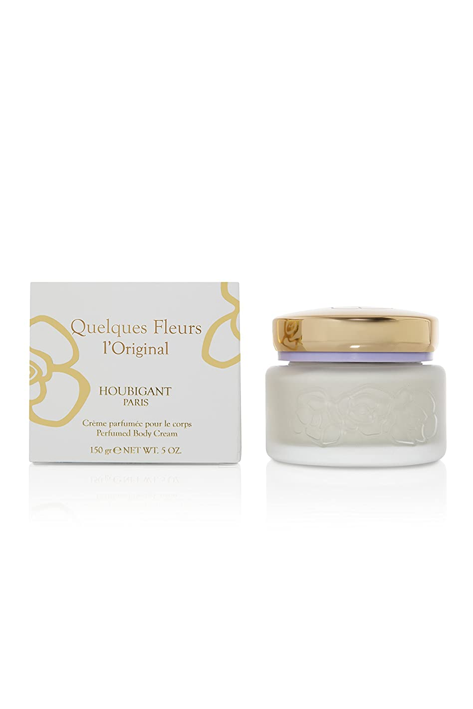 インフラ表現地震Quelques Fleurs (ケルケス フリュール) 5.0 oz (150ml) Body Cream by Houbigant for Women