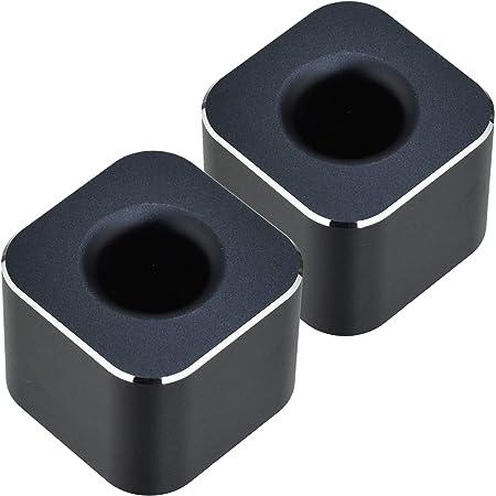 REX-OWL ペン立て デスク周りをスタイリッシュにみせる ペンスタンド 2個セット PST-01 (ブラック)