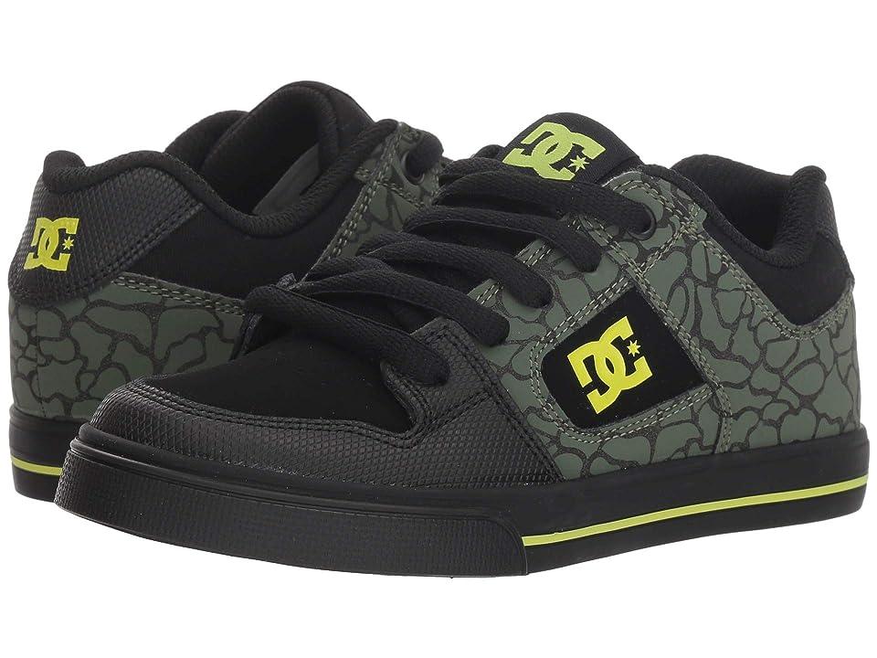 DC Kids Pure SE (Little Kid/Big Kid) (Black/Soft Lime) Boys Shoes