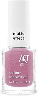 Art 2C Half Full Matte Effect Nail Polish - Smalto per unghie effetto opaco, 11 colori, 12 ml, colore: MT51