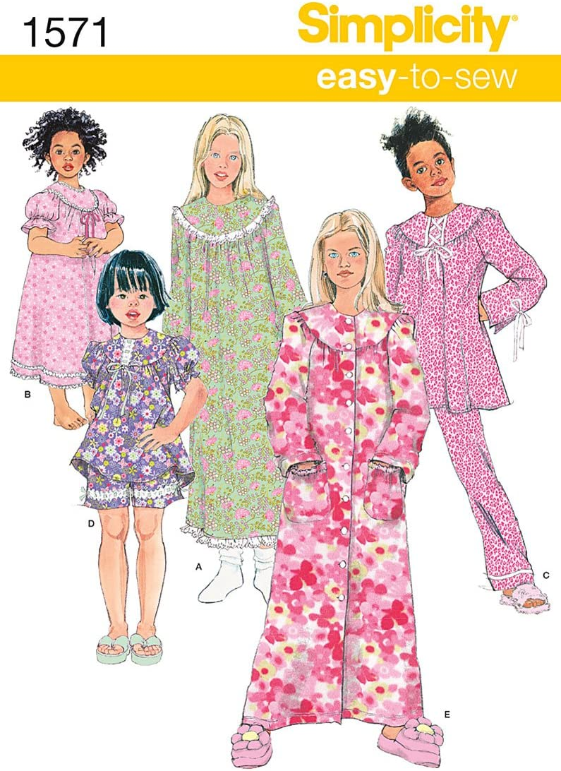 Simplicity 1571 Girl's Top Pants Sewing Patterns 5% OFF Ranking TOP15 Nightgown and
