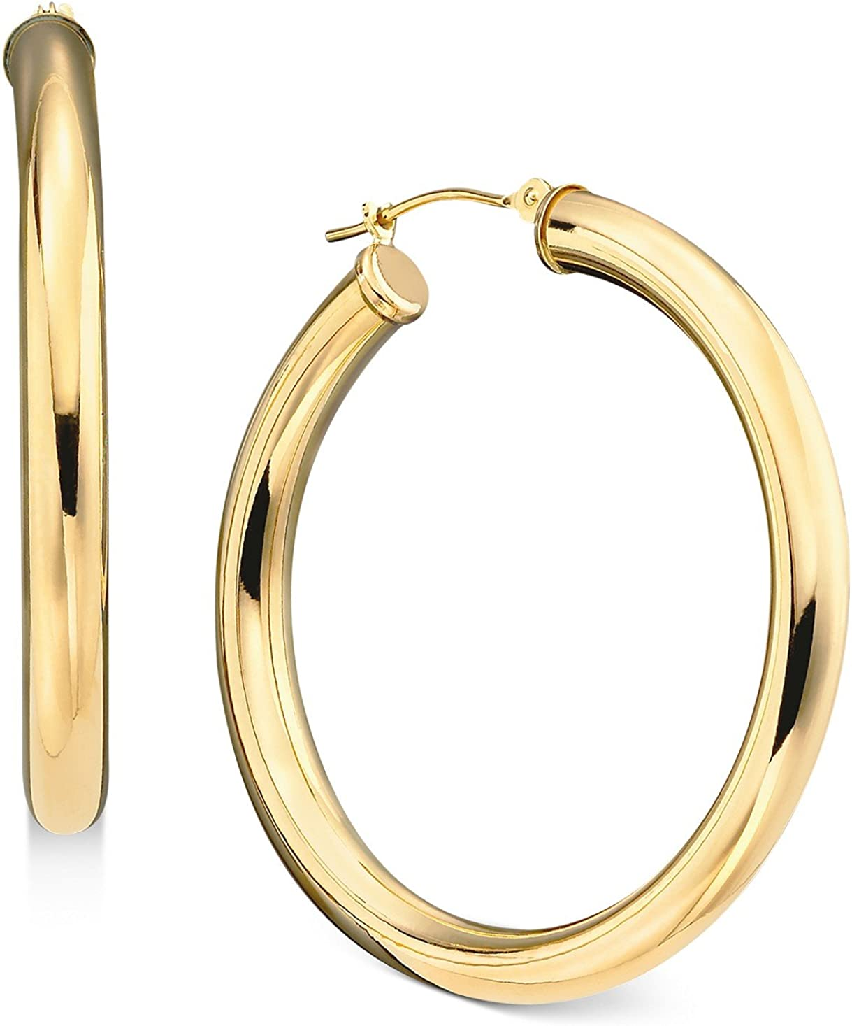 14k Yellow Sales of SALE items from Complete Free Shipping new works Gold Classic Shiny Polished Round Earrings Hoop 2mm