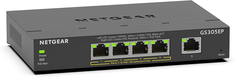 NETGEAR 5 Port PoE Gigabit Ethernet Plus Switch (GS305EP) $49.99 Coupon