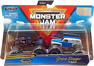 Monster Jam, Official Son-Uva Digger Vs. Grave Digger Die-Cast Monster Trucks, 1: 64 Scale, 2 Pack