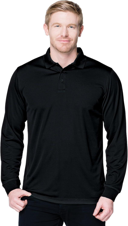 Tri-Mountain Performance Men's K020LS Vital Long Sleeve Polo Shirt