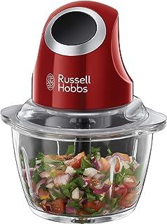 Russell Hobbs Hachoir Electrique Bol Préparation 1L, Lames Acier Inoxydable Amovibles, Compatible Lave Vaisselle - Rouge 2...