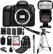Canon EOS 90D Digital SLR Camera Bundle (Body Only) with Commander Optics Professional Accessory Bundle (14 Items)