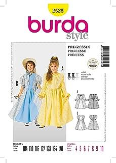 Burda 2525 Girls Costume Pattern Princess, Colonial Dress, Storybook Characters, Little Bo Peep Etc Size 4 to 10