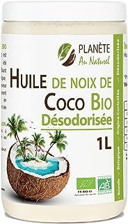 Huile de Coco Bio Désodorisée - 1L - Sans Odeur