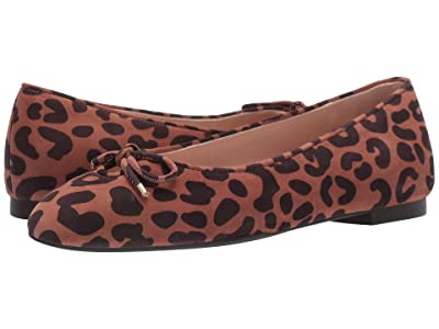 Stuart Weitzman Gabby Bow Flat (Cappuccino Cheetah Suede) Women