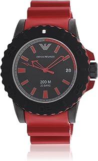 Emporio Armani Men's Quartz Watch, Analog Display and Silicone Strap AR6101
