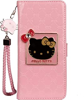 iPhone 11 Pro Hello Kitty Wallet Case,Bling Mirror Bowknot PU Leather Purse Card Slot Pouch Flip Cover Kickstand Case for Girl Woman Lady (Pink,iPhone 11 Pro)