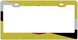 Evelynmat Personalized License Plate Frame Aluminum Alloy Decorative car License Plate Frame Outdoor car License Plate Frame
