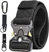 SMesoon Cintur/ón T/áctico Militar para Hombre 125 Cm de Largo Cintur/ón de Nylon con Hebilla de Metal Ajustable para Deportes Al Aire Libre
