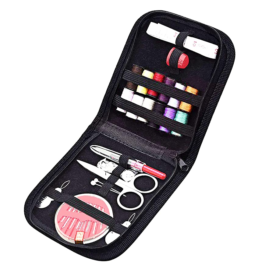 HOOMIL Sewing Kit, HOOMIL Mini Sew Supplies Set Accessories for Girls Beginners Adults in Home Travel and Emergency Use - HU3112 (Black)