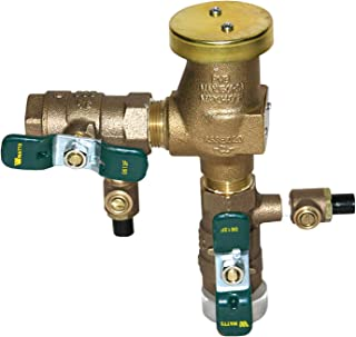3/4 in Bronze Anti-Siphon Pressure Vacuum Breaker, Quarter Turn Shutoff, Tee Handles