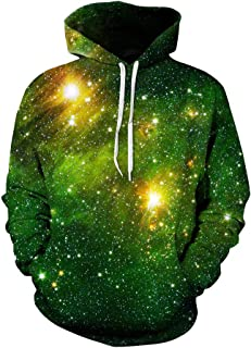 ZiXing Men's Galaxy Outdoor Hoodies 3D Animal Print Pullover Long Sleeve Jumpers Graphic Sweatshirt