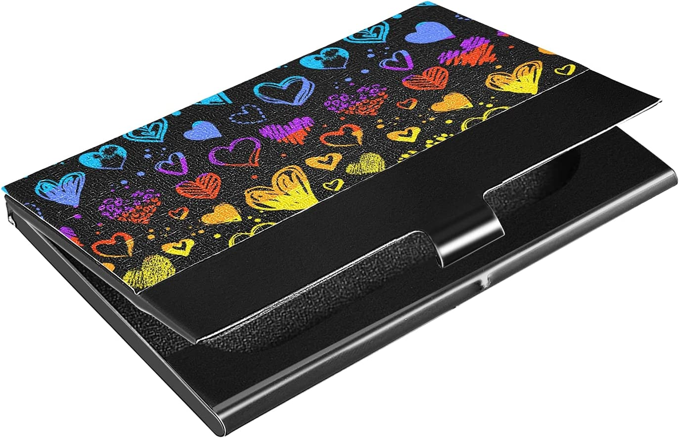 OTVEE Colorful 5% OFF High quality new Love Hearts Business Holder Card Stainless Wallet