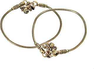 Archiecs Creations Women's Oxidized Metal Ethnic Anklet-Payal