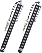 Smart Phone Pens 2 x Black Stylus Pens Styli for Phones and Tablets by TRIXES