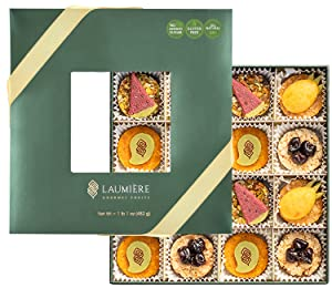 Laumiere Gourmet Fruits – L'été Collection - Gourmet Nuts Gift Basket with Summer Fruits - Healthy Food Tray - Fathers Day Gift Box – Healthy – Natural – Gluten-Free - Square