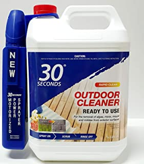 30 Seconds Outdoor Cleaner Rapid Clean 5L RTU Algae Moss and Mildew Removal