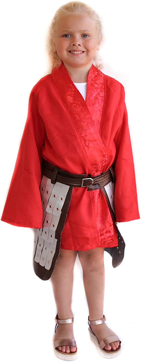 Shipping included Princess Warrior Costume Chicago Mall with Red Kimono Skirt Armored G and for