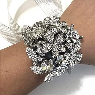 Anwedding Wrist Corsage for Girl Bridesmaid Wedding, Wrist Corsage Party Prom Hand Flower Decor
