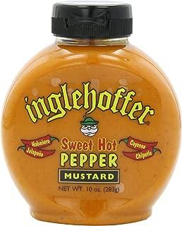 Inglehoffer Mustard, Sweet Hot Pepper, 10 Ounce (Pack of 6)
