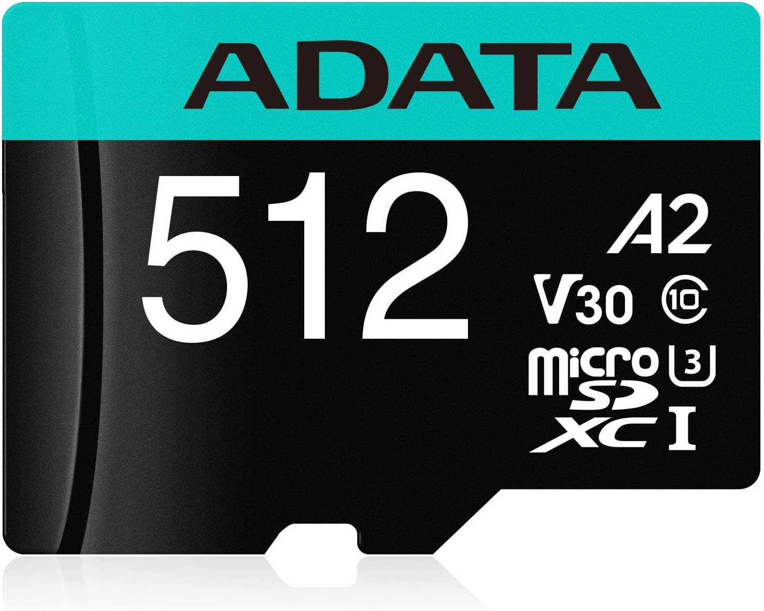 ADATA Premier Pro 512GB MicroSDXC/SDHC UHS-I U3 Class 10 V30S A2 Memory Card with SD Adapter - Waterproof, Shockproof, X-ray Proof, Magnet Proof and Temperature Resistant