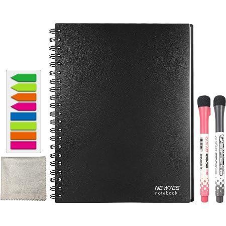 ノート型ホワイトボード NEWYES 書きやすくて消しやすい A4サイズ 学習塾・オフィス・会議室・学校 メモ 子供 落書き 掲示板 メニューボード…
