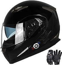 Motorcycle Bluetooth Helmets,FreedConn Flip up Dual Visors Full Face Helmet,Built-in Integrated Intercom Communication Sys...