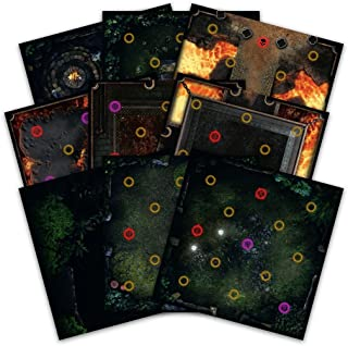 Dark Souls: The Board Game - Darkroot Basin and Iron Keep Tile Set, Multi-Colored