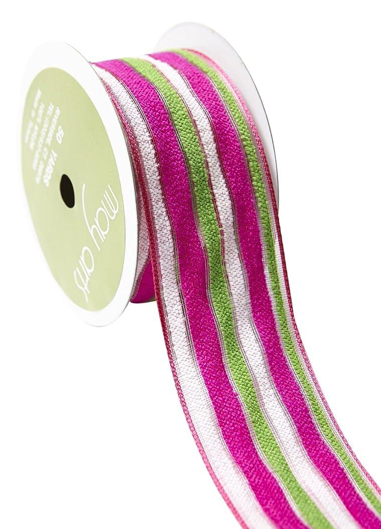 May Arts 527-15-22 Pink/Green/White 1.5