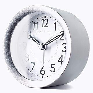 TXL 4 inch Round Silent Sweep Analog Alarm Clock Non Ticking, Gentle Wake, Beep Sounds, Increasing Volume, Battery Operate...