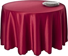 SARO LIFESTYLE LN201 Round Tablecloth Liners, 96-Inch, Raspberry