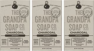 Grandpa's Soap Co. - Face & Body Bar Soap Charcoal (pack of 3)