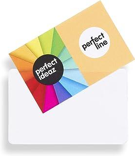 perfect line 100pochettes de cartes de visite autocollantes 95x60mm, pochette d'insertion adhésive permanente, claire et...
