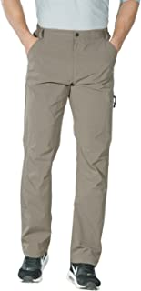 Nonwe Men's Outdoor Quick Dry Water-Resistant Hiking Pants with Drawstring Hem