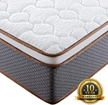 BedStory 10 Inch Queen Mattress, Upgraded Hybrid Mattress with 100% Natural Latex Foam & Individually Encased Spring Coils, Bed Mattress in A Box, Medium Firm Responsive Support