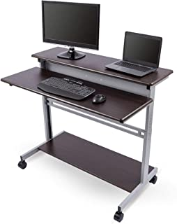 Mobile Ergonomic Stand up Desk Computer Workstation (48