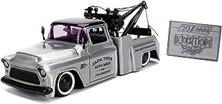 Jada Toys 20th Anniversary Kustom Kings 1955 Chevy Stepside Die-Cast Car, 1:24 Scale Bare Metal