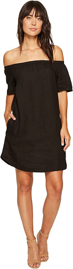 Two-Pocket Off the Shoulder Dress