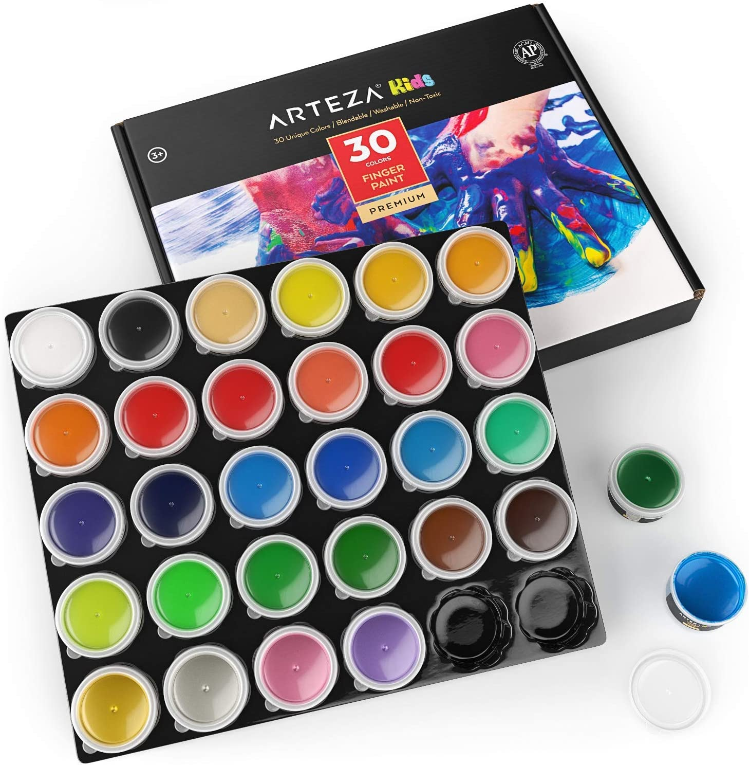 Arteza Finger Paints for Toddlers Nontoxic Set Colors of 30 We OFFicial site OFFer at cheap prices 1