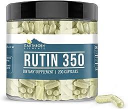 Rutin, 200 Capsules, 350 mg Serving, Pure & Potent, Natural Source Bioflavonoid, Gluten-Free, Non-GMO, No Additives or Fil...