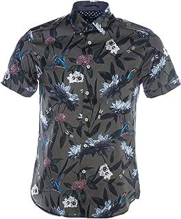 Johnn Short Sleeve Shirt in Khaki Floral