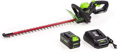 Greenworks HT-240 24-Inch 40V Cordless Hedge Trimmer, 3Ah Battery
