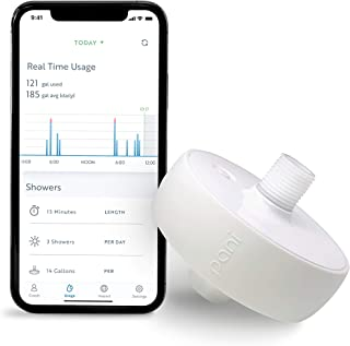 Pani Smart Water Monitor: Measure Water Usage in Real Time by Individual Fixture, Easy Self-Installation, Detect Leaks, Conservation Coach